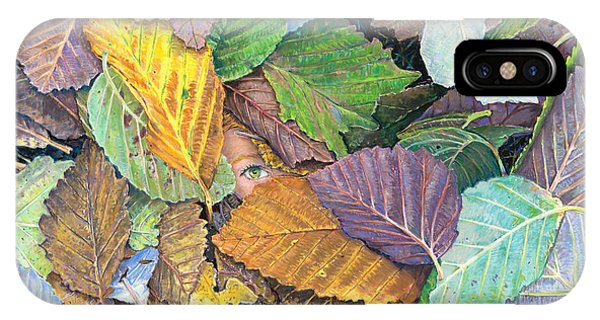 Alder Leaves And Faerie IPhone Case