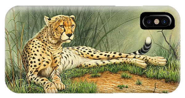 Alert Repose  - Cheetah IPhone Case