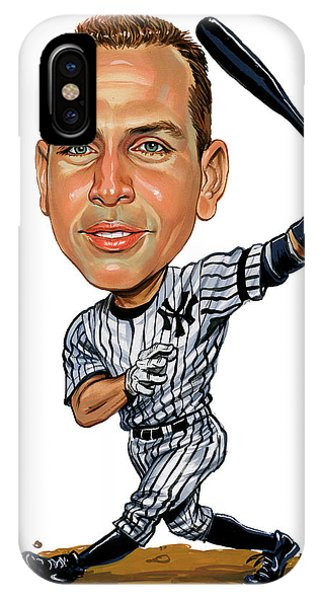 New York Yankees iPhone Case - Alex Rodriguez by Art