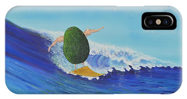 Alex The Surfing Avocado IPhone Case