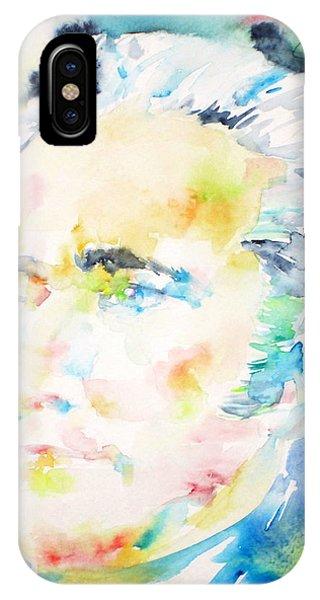 Alexander Hamilton - Watercolor Portrait IPhone Case