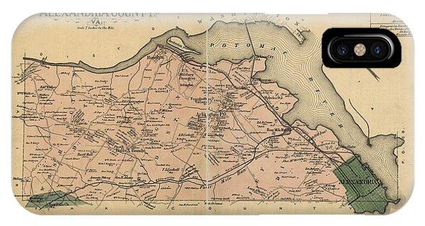 Alexandria Virginia 1878 IPhone Case