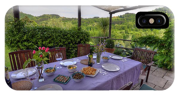 Alfresco Dining In Tuscany IPhone Case
