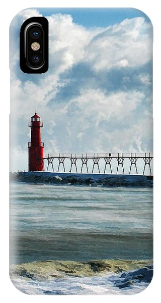 Algoma Pierhead Lighthouse IPhone Case