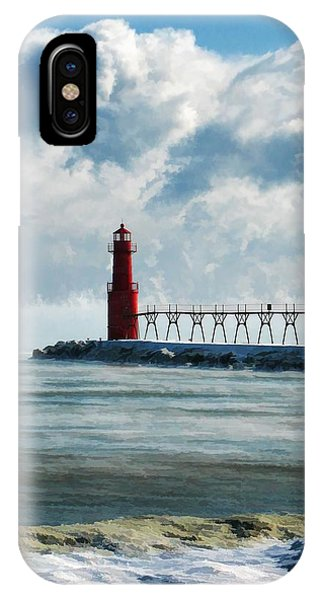 Algoma Pierhead Lighthouse IPhone Case