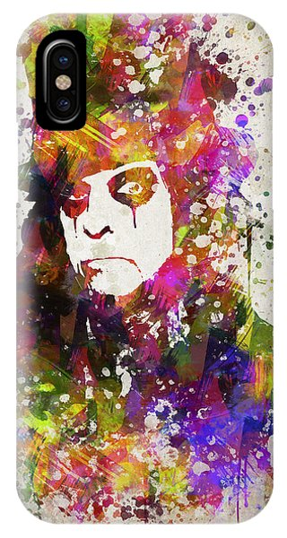 Alice Cooper iPhone Case - Alice Cooper In Color by Aged Pixel