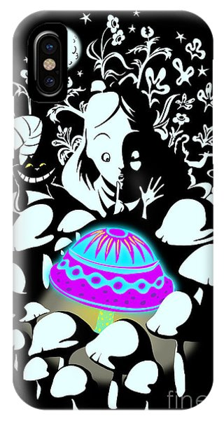 Alice In Wonderland iPhone Case - Alice's Magic Discovery by Sassan Filsoof