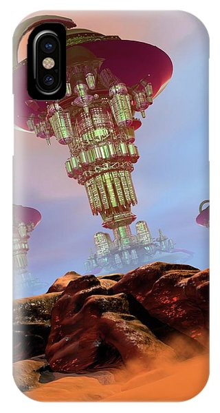 Alien City Phone Case by Victor Habbick Visions