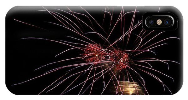 Alien Eyes - Fireworks At St Albans Bay IPhone Case