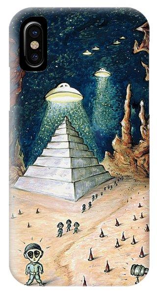 Alien Invasion - Space Art Painting IPhone Case
