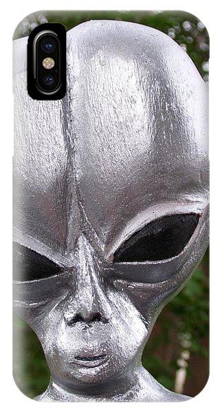 Alien Phone Case by Michael Pasko