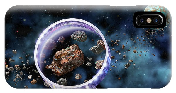 Micro-organisms iPhone Case - Alien Microbes On Meteorites by Lynette Cook/science Photo Library
