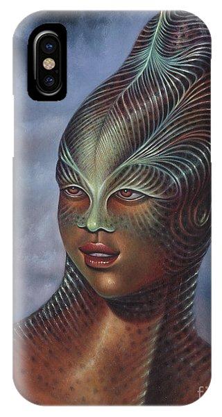 Alien Portrait I IPhone Case