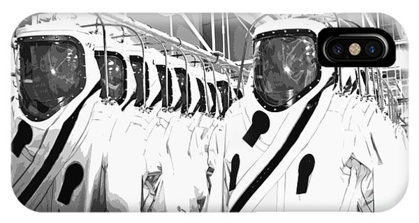 Kennedy Space Center iPhone Case - Alien Space Suits by Allan  Hughes