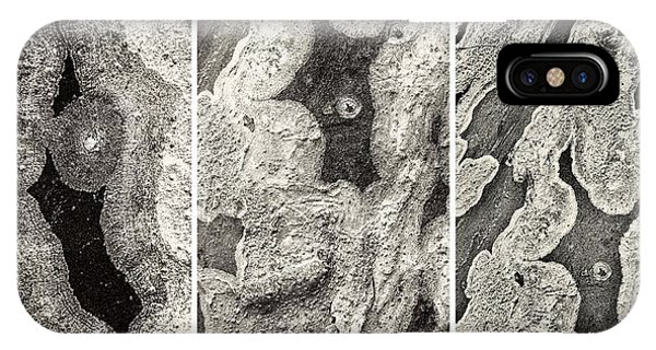 Alien Triptych Landscape Bw IPhone Case