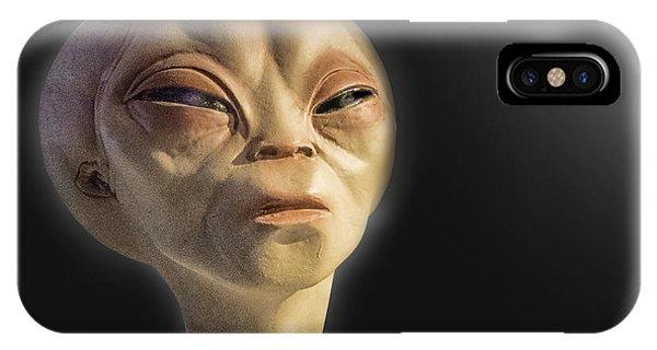 Alien Yearbook Photo IPhone Case