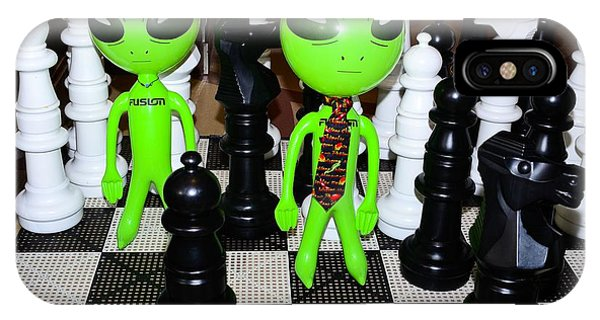 Aliens Playing Chess IPhone Case