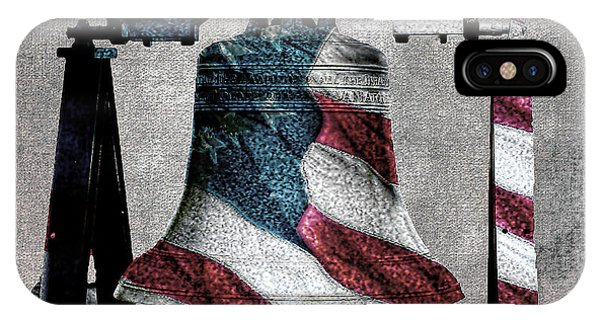 All American Liberty Bell Art_denim IPhone Case