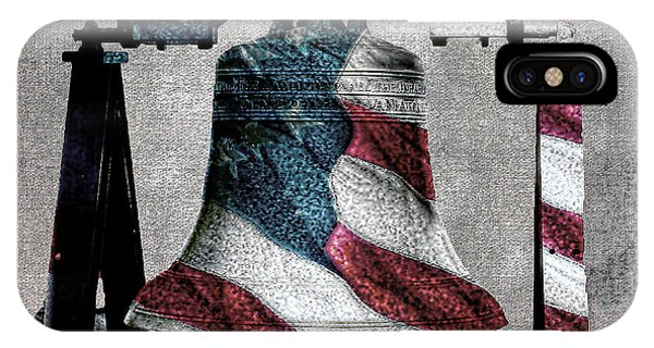 All American Liberty Bell Art_denim IPhone Case