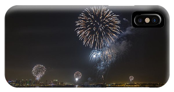 All At Once San Diego Fireworks IPhone Case