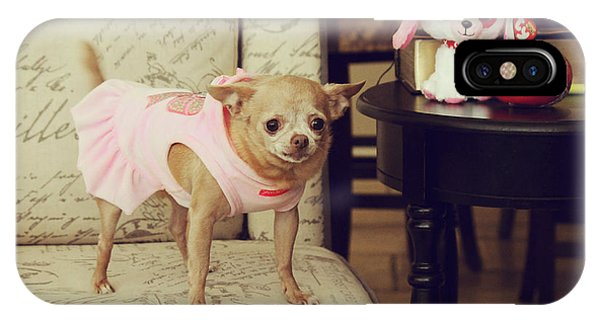 Chihuahua iPhone Case - All Dressed Up by Laurie Search