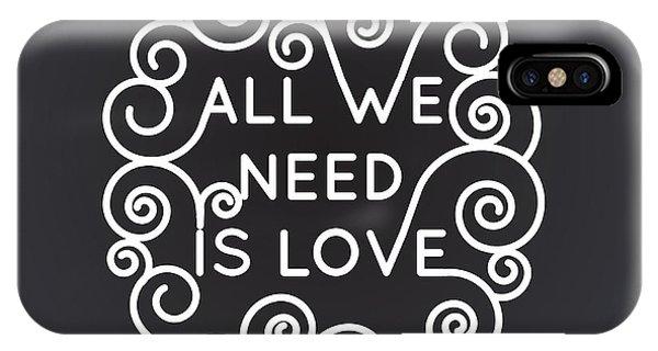 Positive iPhone Case - All We Need Is Love - Vector Geometric by Tatyana Yamshanova
