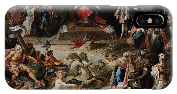 Allegory Of The Abdication Of Emperor Charles V In Brussels, C.1630-1640, By Frans Francken IPhone Case