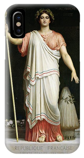 Staff iPhone Case - Allegory Of The Republic, 1848 Oil On Canvas by Dominique Louis Papety