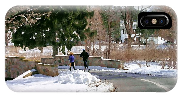 Allentown Pa Trexler Park Winter Exercise IPhone Case