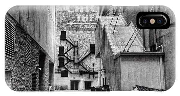 City iPhone Case - Alley By The Chicago Theatre #chicago by Paul Velgos
