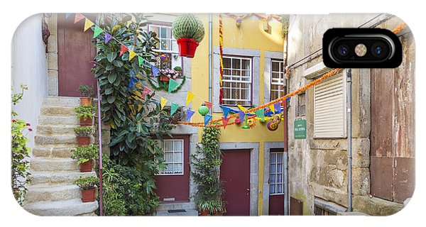 Alley In Old Town Porto Portugal IPhone Case
