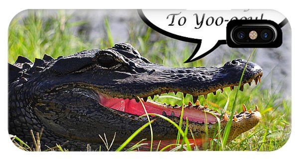 Alligator Birthday Card IPhone Case