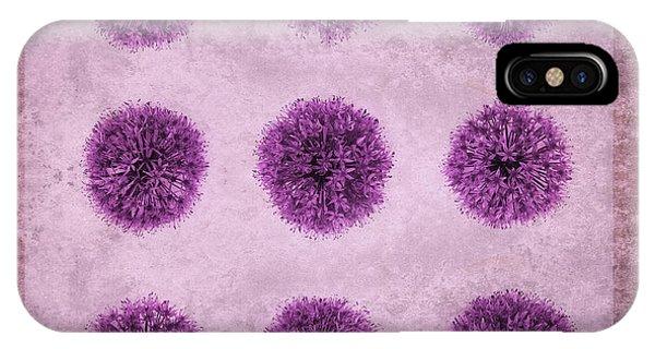 Allium Hollandicum Purple Sensation Pattern IPhone Case
