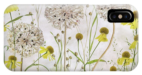 Alliums And Heleniums IPhone Case
