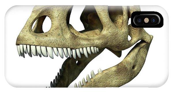 Allosaurus Dinosaur Skull Phone Case by Leonello Calvetti/science Photo Library