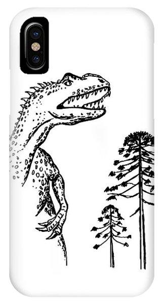 Allosaurus Phone Case by Richard Bizley
