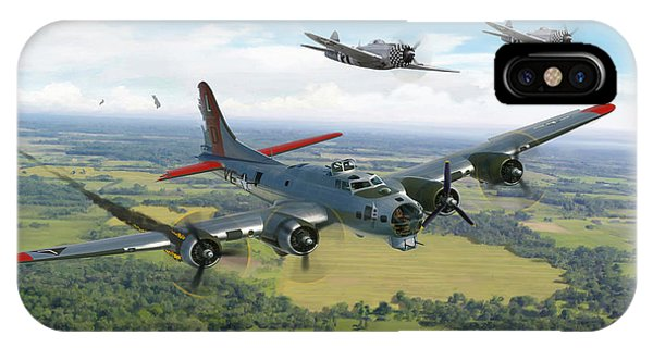 Almost Home  B-17 Flying Fortress Phone Case by Mark Karvon