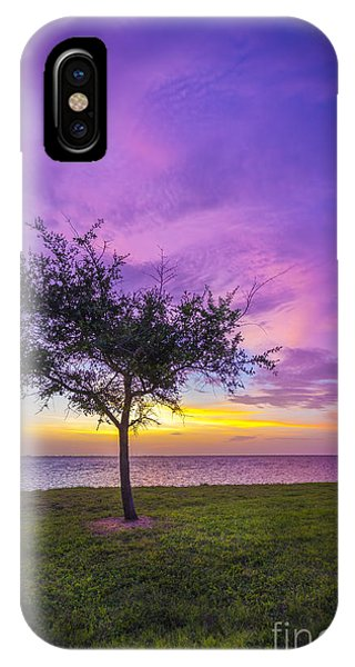 Alone At Sunset IPhone Case