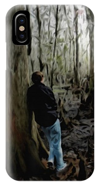 Alone In His Thoughts IPhone Case