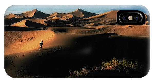 Dunes iPhone Case - Alone In Nature by Babak Mehrafshar (bob)