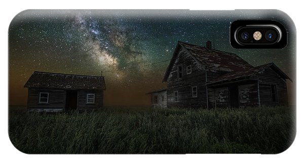 Abandoned Houses iPhone Case - Alone In The Dark by Aaron J Groen
