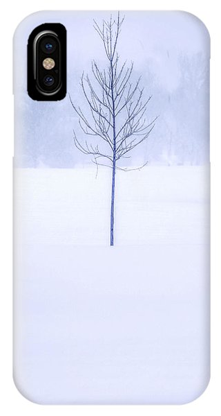 Alone In The Snow IPhone Case