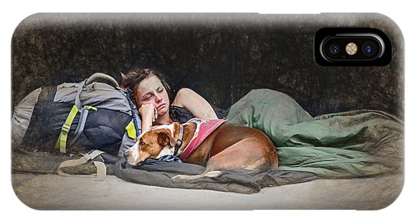 Alone With Her Dog IPhone Case