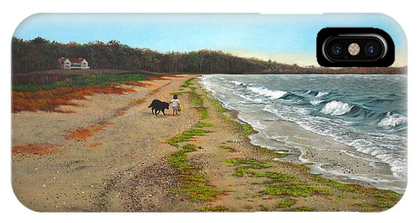 Along The Shore In Hyde Hole Beach Rhode Island IPhone Case