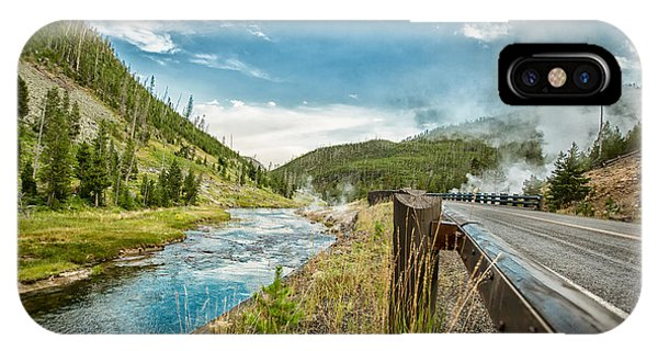 Along The Volcanic Yellowstone Road IPhone Case