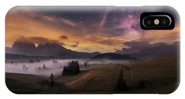 Alpe Di Siusi At Night Phone Case by Ales Krivec