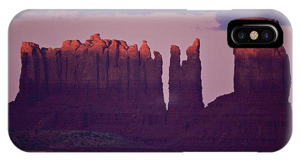 Alpen Glow On Monument Valley  C6j4475 IPhone Case