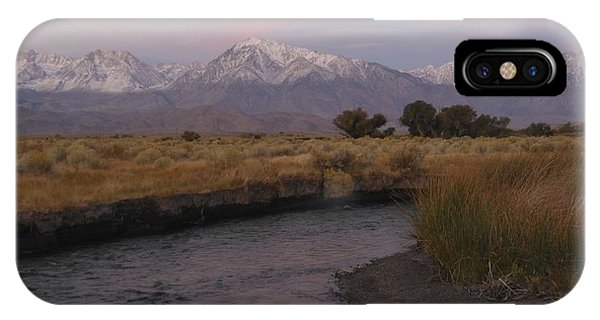 Alpenglow On Owens River IPhone Case