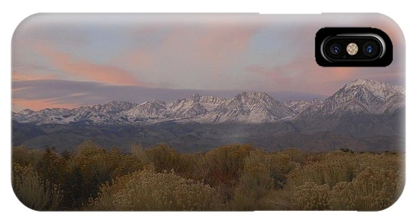 Alpenglow Owens Valley IPhone Case