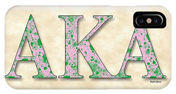 Alpha Kappa Alpha - Parchment IPhone Case